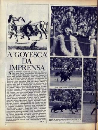Forcados Amadores do Colégio Nun'Álvares de Tomar - Campo Pequeno - Revista 'FLAMA', n.º 1.60 de 23.08.1968. Fotos: Casimiro Serra