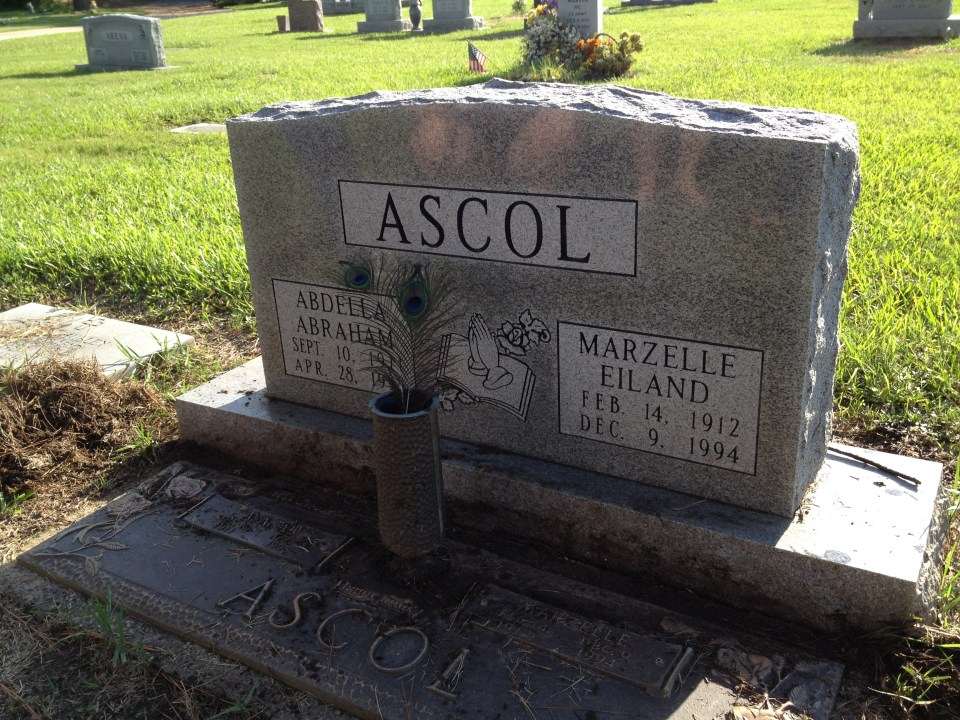 Ascol tombstone