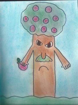 """""""Uma árvore zangada"""", da BD """"O Planeta das Frutas"""""""