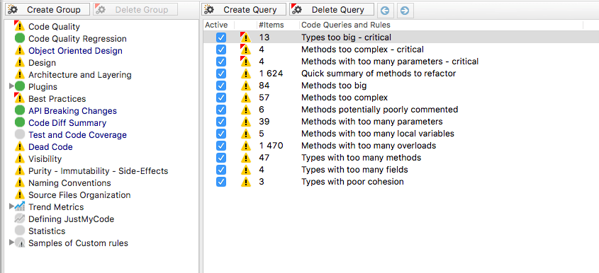Queries on Java code