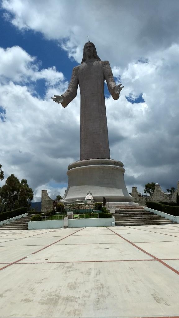 Statue El Cristo Rey in Pachuca Hidalgo