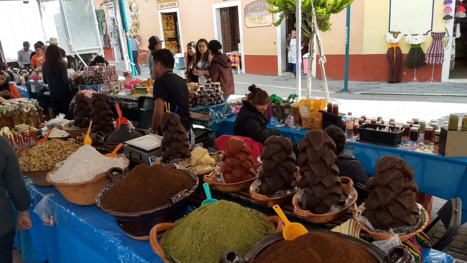 Street vendor at Real del Monte