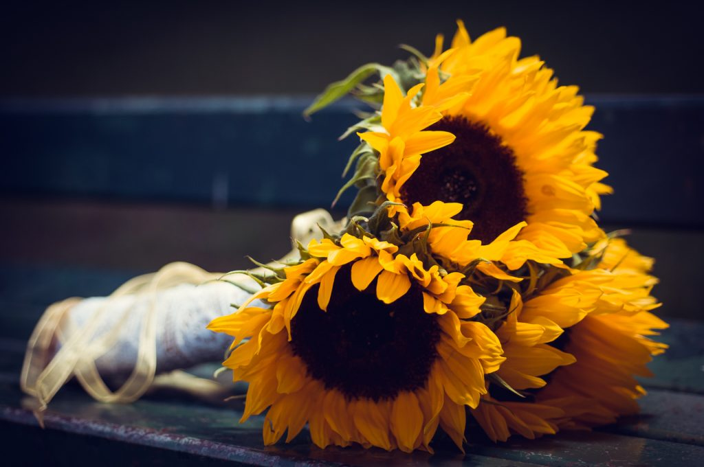bouquet sunflowers