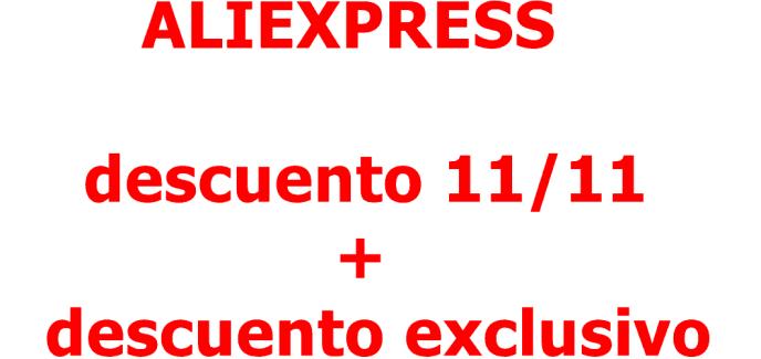 Aliexpress 11 noviembre