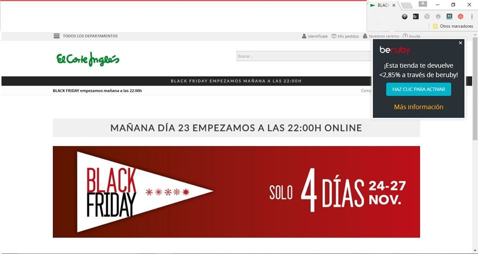 Black Friday El Corte Inglés 2016