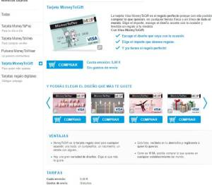 tarjeta prepago money to gift