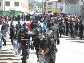 Más de 500 policías llegaron a Puquio