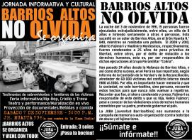 Volantes informativos Coordinadora Contra la Impunidad - CCI y Colectivo JUBA