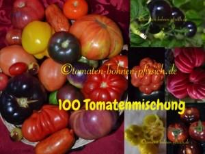 100 Tomatensamen von 50 verschiedene Sorten zusammen verpackt