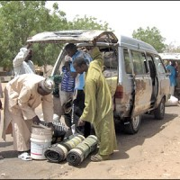 Goods being confiscated at the Nigerian border with Niger