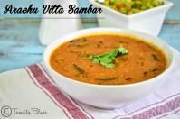 Araichuvitta Sambhar- Lentil stew with drumsticks