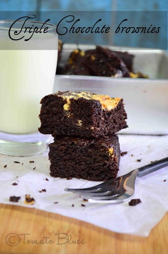One Bowl Triple Chocolate Coffee Brownie Recipe   Easy ...