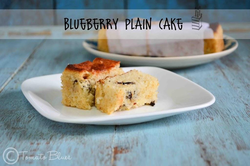 Blueberry Plain Cake Recipe| Eggless Cake Recipes -