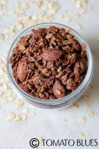 Chocolate Almond Chia Granola Recipe