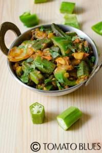 Restaurant Style Bhindi Do Pyasa Recipe