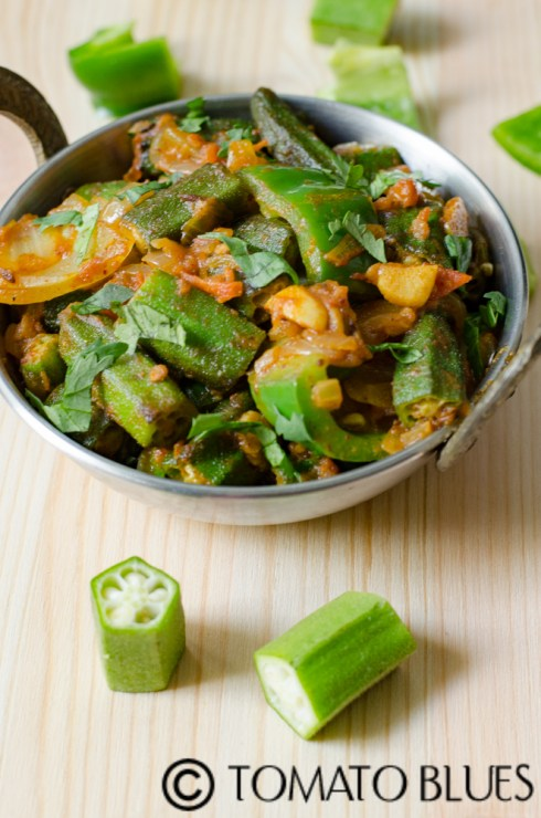 restaurant style bhindi do pyasa