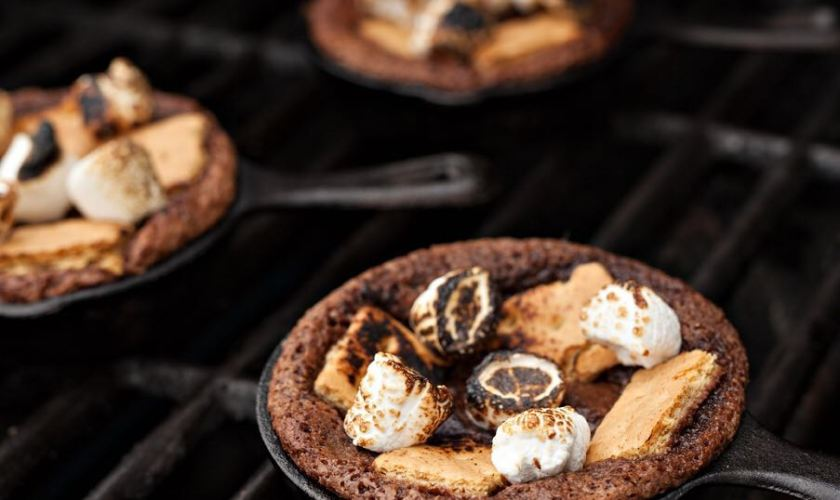 Bourbon S'mores Brownie