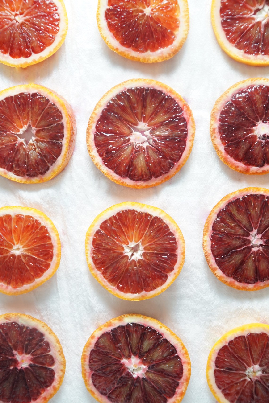 Slices of blood oranges