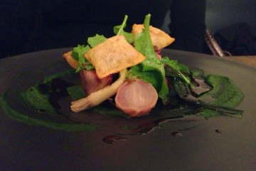 Flinders Island lamb, nettles, radish tops and slippery jacks
