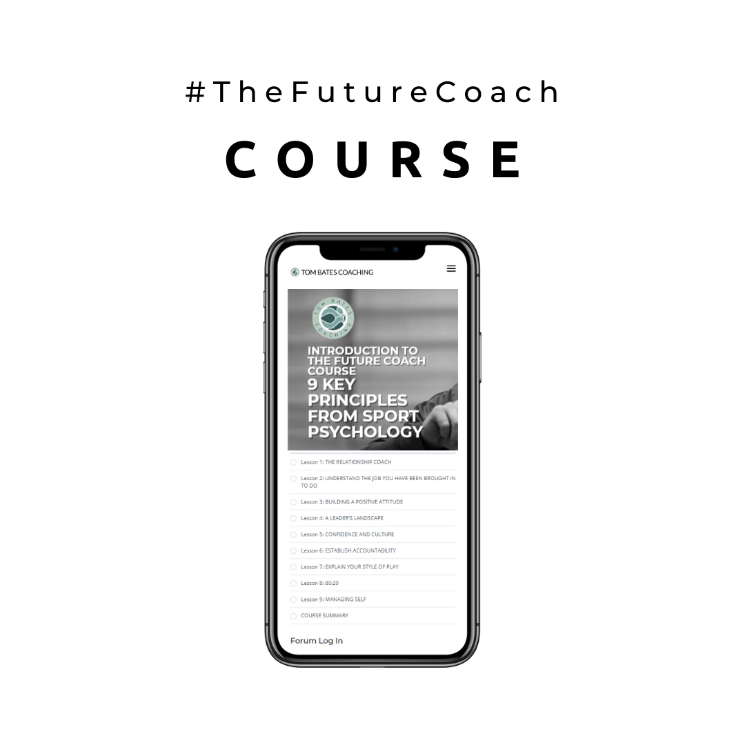 iPhone 11 image of The Tom Bates Coaching sports psychology course Introduction to The Future Coach