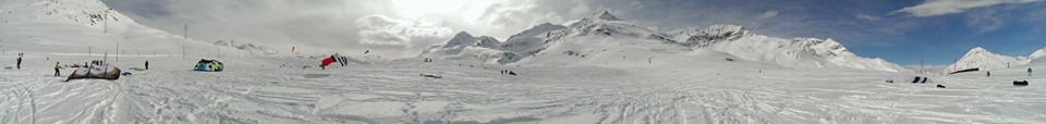 Bernina Pass Snowkiting