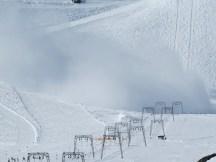 Snow reaching the t bars