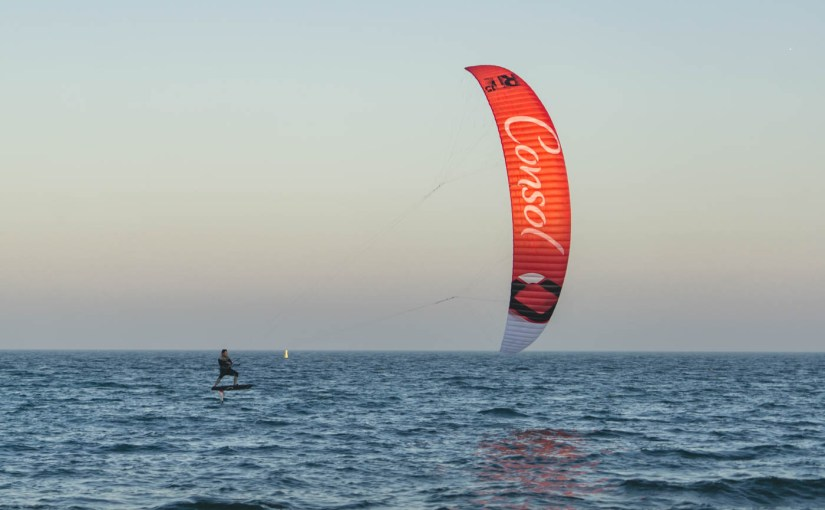 Sunset Foiling in Sandbanks