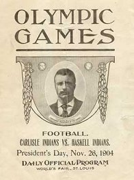 1904 Carlisle-Haskell game program cover
