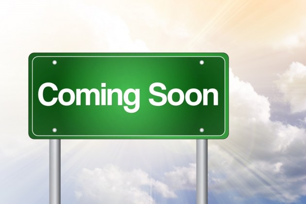 Coming Soon Green Road Sign, business concept