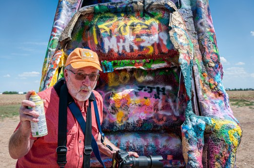 The Mad Sprayer - at the Cadillac Ranch