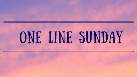 one line sunday banner