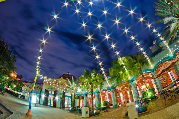 Some gorgeous lights provide great nighttime ambiance at Disney's Coronado Springs Resort. Our review of Coronado Springs: https://www.disneytouristblog.com/disneys-coronado-springs-resort-review/