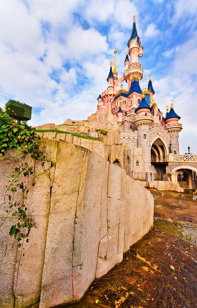 Disneyland Resort ParisParc DisneylandSleeping Beauty CastleA view from one of the many winding pathways around Sleeping Beauty Castle. For more Disneyland Paris tips and information, visit: https://www.disneytouristblog.com/tag/disneyland-paris/