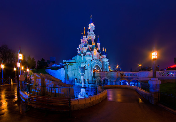 Le Chateau de la Belle au Bois Dormant at Disneyland Paris. Hundreds of Disneyland Paris photos in our trip report! https://www.disneytouristblog.com/disneyland-paris-2012-trip-report/