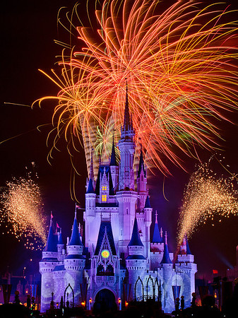 Doesn't it look sort of like Cinderella Castle is sneezing, and snot is blowing out of the left and right