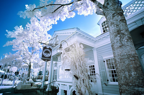 Liberty Tree Tavern, photographed with a special infrared converted camera.