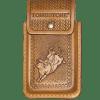 Porta celular monta miel  de piel