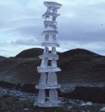 An ice tower which froze itself together whilst Andy was building it.