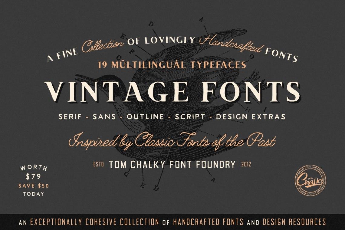 Download Vintage Fonts Pack - Tom Chalky