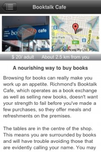 Booktalk Cafe from Melbourne Literary app
