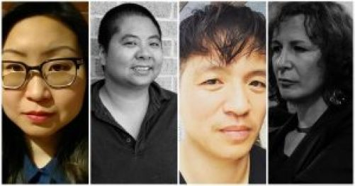 Photos of authors from left to right: Margaret Rhee, Ching-In Chen, Tom Cho, and Trish Salah