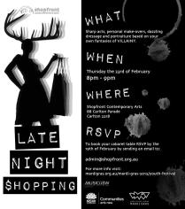 'Late Night Shopping' Participant Invite and eFlyer, 2012