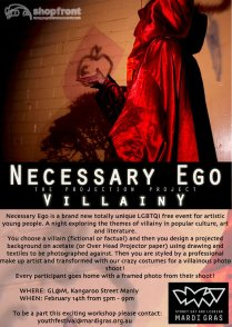 'Necessary Ego' Workshop Invite, 2012