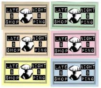 'Late Night Shopping' Ticket Design, 2012