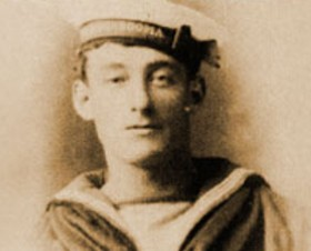 A young Tom Crean, from his days aboard HMS Ringarooma.