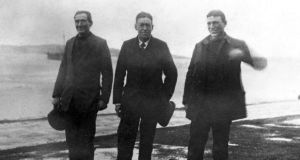 Crean, Shackleton & Worsley at Stromness.