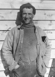 Tom Crean at Cape Evans in 1912