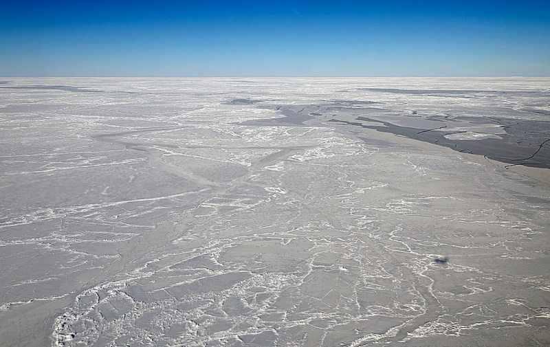 Sea ice on the Weddell Sea.