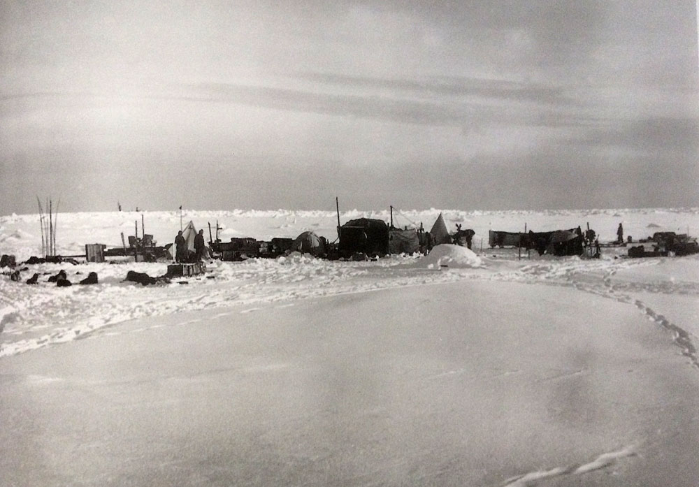 Ocean Camp - Their first settlement on the ice.