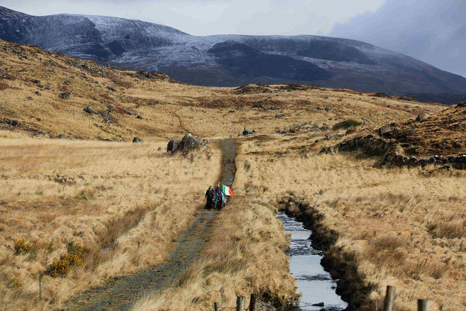 Along the old Kenmore Road, with the aptly snow capped mountains in the background.